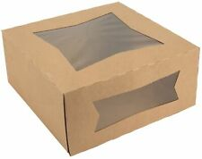 Pie Bakery Box 8 X 8 X 4 Kraft Auto Popup With Window 25 Pieces