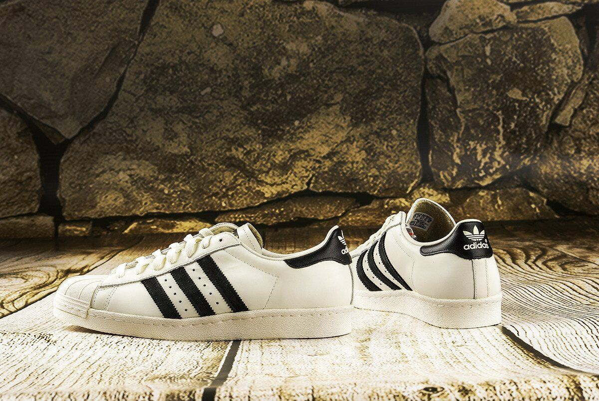 Zapatos Originals  de Cuero Adidas Originals Zapatos Blanco Superstar Retro traniers (PVP: 74.95 EUR) 4d34ac