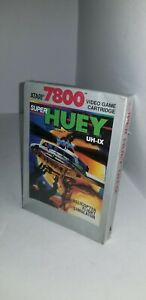NEW-W-CREASED-BOX-SUPER-HUEY-UH-1X-GAME-FOR-ATARI-7800-PAL-VER-NOT-FOR-USA-G54
