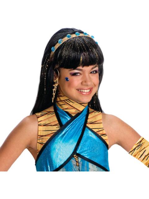 Monster High Kostuem Ebay.Monster High Child S Cleo De Nile Girls Wig Costume Accessory Rubie S 7ex3zx1 For Sale Online Ebay