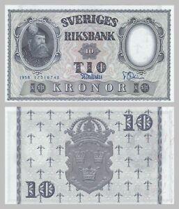 Schweden-Sweden-10-Kronor-1958-p43f-unc