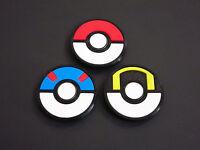 Set 3 Pcs. Pokemon Pokeball Great Ultra Ball Fidget Toy Finger Spinner -usa Made