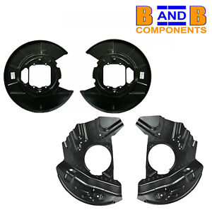 BMW X5 E53 FRONT & REAR DISC BRAKE PROTECTION BACK PLATES PAIR A1317