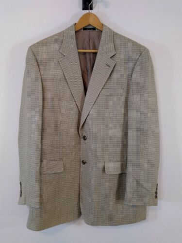 Chaps Blazer Silk Houndstooth Button Mens 42l Two qrB7nqTx