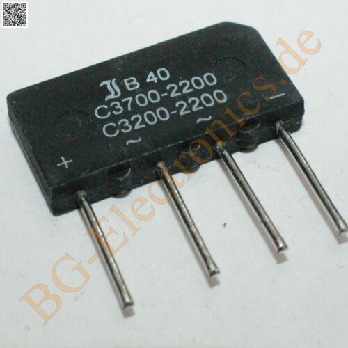 B40C3700//2200 2 x B40C3700 2200 Silicon-Bridge-Rectifiers B4 Diotec  2pcs