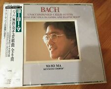 Bach Unaccompanied Cello Suites CD - Yo-Yo Ma - 3 CD Set - Sony Japan  w/Obi