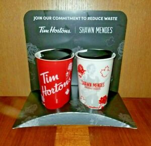 Shawn-Mendes-Tim-Hortons-Ceramic-Coffee-Travel-Cup-Mug-Red-amp-White