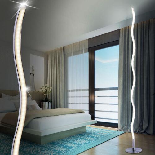 LED Stehleuchte Standlampe Fernbedieung Wellen Design Beleuchtung Schlafzimmer