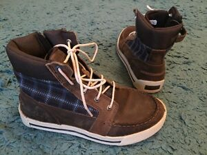 Boys Timberland Earthkeeper Boots Shoes Brown Leather Uk 4 Vgc