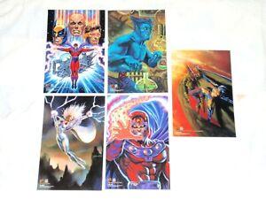 1994-FLEER-ULTRA-X-MEN-ULTRA-PRINTS-CASE-TOPPER-5-CARD-SET-JUMBO-MARVEL-MAGNETO