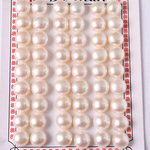 Beads & Jewelry Making Jewelry & Accessories 7-8mm Button Shape Genuine Pink Pearl Beads Half Drilling Genuine Pearl Beads For Earring Making Beads The Latest Fashion