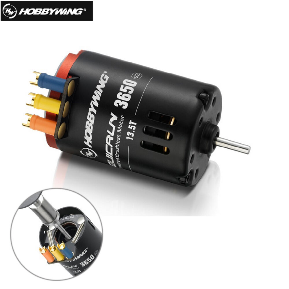 Hobbywing QUICRUN 3650 G2 Sensored 2-3S Racing Brushless Motor for 1 10 Rc Car