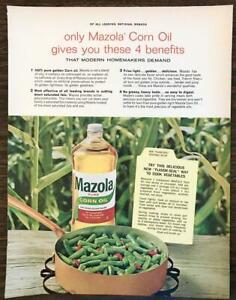 1965 Mazola Corn Oil Print Ad 4 Benefits Modern Homemakers ...