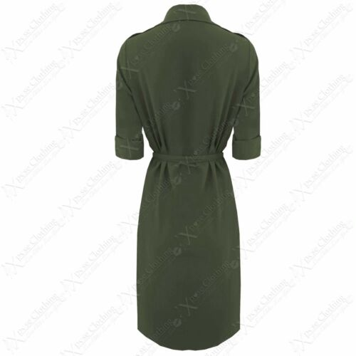 NEW LADIES WATERFALL CREPE SHIRT DRESS WOMEN WRAPOVER BLOUSE 3//4 SLEEVE LONG TOP
