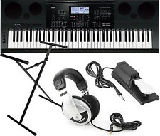 Casio WK-7600 76-key Workstation Keyboard Bundle with Stand and Headphones!