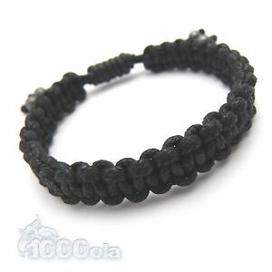 bracelet homme men 39 s style shamballa fil coton cir perles hematite fait main ebay. Black Bedroom Furniture Sets. Home Design Ideas