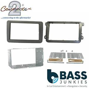 Connects2 CT23VW01 Volkswagen Touran 2003 On Car Stereo Double Din Fascia Panel