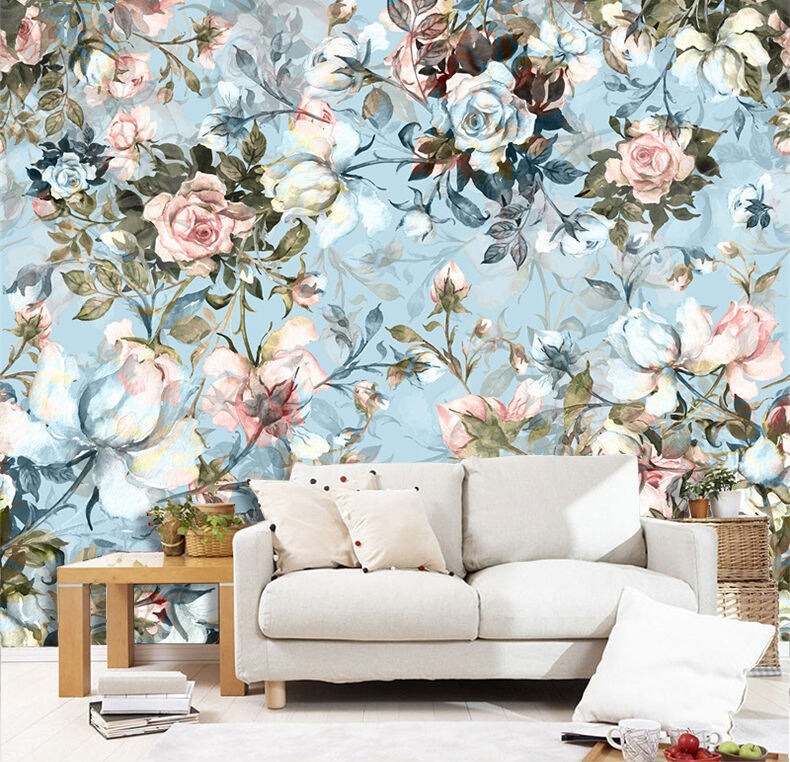 3D Flowers And Leaves 2988 Paper Wall Print Wall Decal Wall Deco Indoor Murals