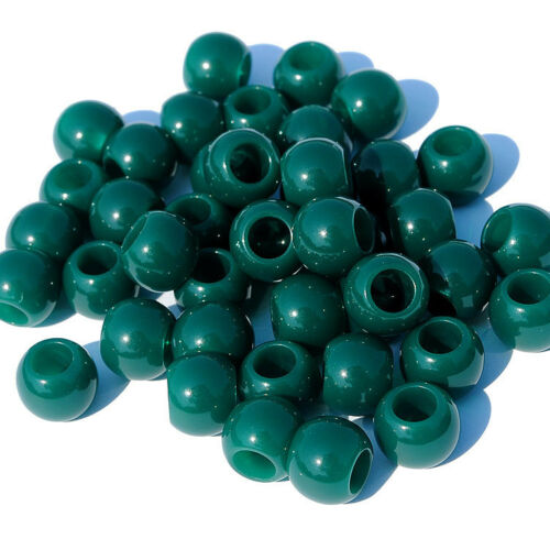 100pcs 10mm Round Acrylic Spacer Loose Big Hole Beads 22 Colors Jewelry Making