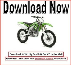 Kawasaki Kx450f Service Repair Manual Klx 450 2006 2008 Maintenance Rebuild Cd Ebay