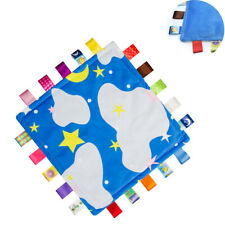 SOFT TOUCH BABY/'S BLUE COMFORTER BLANKET TAGGIE WITH STARS NWT