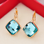 18K-Rose-Gold-GF-13mm-Fashion-Square-CRYSTAL-Hoop-Huggie-Earrings-Multi-Color thumbnail 2