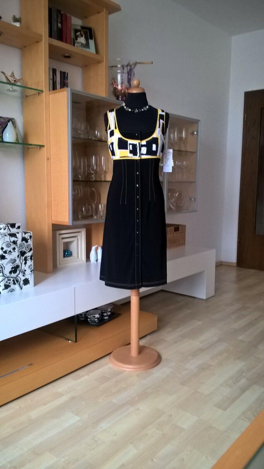 JOSEPH RIBKOFF  Kleid Gr 40 schwarz gelb weiß weiß weiß Karo Knöpfe neu mit Etikett | In hohem Grade geschätzt und weit vertrautes herein und heraus  | Auktion  3dba6c
