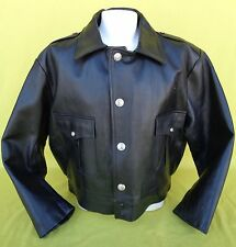 NEW Taylor's Leatherwear #4450 Police Black Leather Jacket Mens Size Large