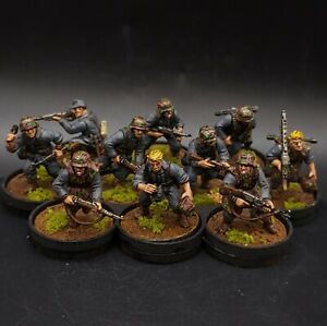 PRO PAINTED 28mm BOLT ACTION TEDESCA WAFFEN SS Squad × 10 ww2