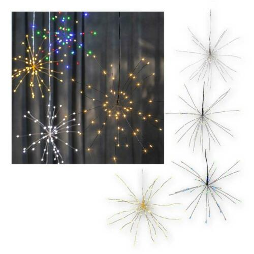 Batterie De Fonctionnement /& Timer 3d-Suspension étoile Firework 60 DEL Noël Décoration