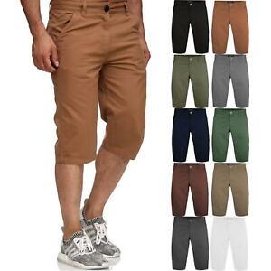 Mens-Casual-Cargo-Combat-Long-Shorts-3-4-Summer-Pocket-Cotton-Chino-Half-Pants