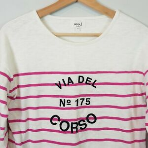 SEED-HERITAGE-Womens-Del-Corso-Striped-sweater-Top-Size-XS-AU-8-or-US-4
