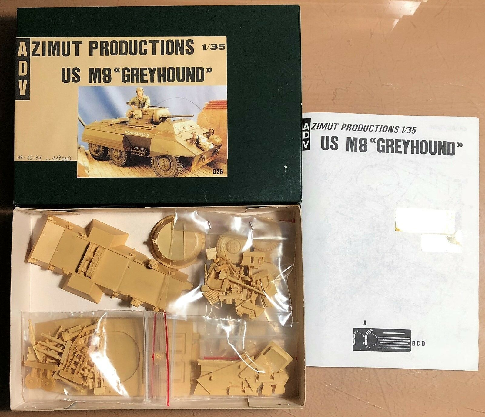 ADV AZIMUT PRODUCTION PRODUCTION PRODUCTION 35026 - US M8  GREYHOUND  - 1 35 RESIN KIT b91232