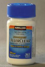 365ct Kirkland AllerClear Non-Drowsy Allergy Antihistamine Loratadine 10mg Tabs