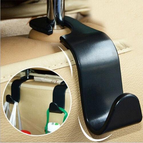 Black Car Seat Hook Purse bag Hanger Bag Organizer Holder Clip Accessories 1PCS