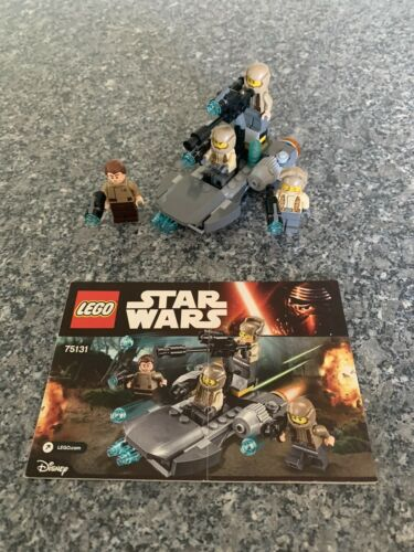 LEGO SW RESISTANCE TROOPER BATTLE PACK 75131 100/% COMPLETE  WITH INSTRUCTIONS