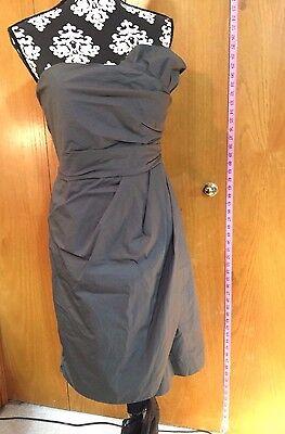J.Crew Grey Dress, sz 16, 100% Cotton, Lined: Bodice Cotton/Skirt Acetate, EUC!
