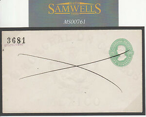 MS761 1878 MEXICO Postal Stationery 10c Pen Cross Cancelled *Guanajuato* PROOF?