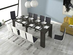 Mesa de comedor mesa consola extensible mesa cocina, Gris Ceniza | eBay
