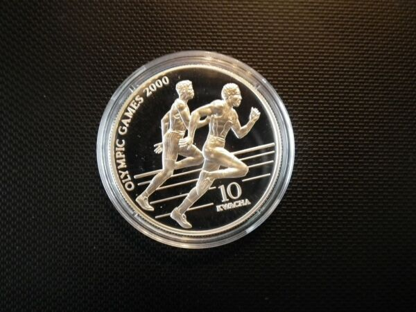 2019 Nouveau Style Malawi 10 Kwacha 1999 Sprinter Jeux Olympiques Pp Argent De Haute Qualité Et Peu CoûTeux