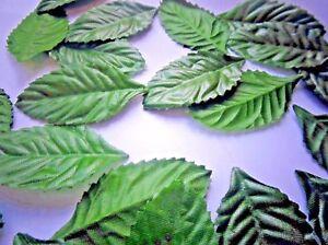 100-SLIM-SETA-ROSE-foglie-verde-scuro-Tavola-Decorazione-Craft-Costume