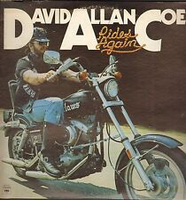 Biker LP  David Allan Coe - RIDES AGAIN 1976  ( Demonstration  NOT FOR SALE COPY