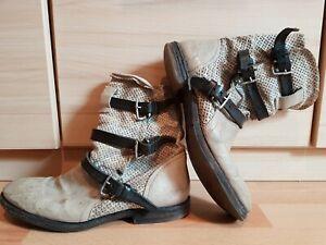 new styles be723 58c5c Details zu Airstep 40 Stiefel, Boots, Stiefeletten, Top Zustand ! Farbe  Beige, Braun, Leder
