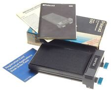 POLAROID MODEL 550 LAND PACK FILM HOLDER 4x5 BOX PAPERS DARK SLIDE COMPLETE NICE