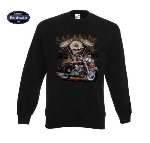 Sweatshirt Black HD V Twin Biker Chopper/&old School Motif Model for the People