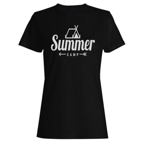 Summer camp Ladies T-shirt//Tank Top v209f