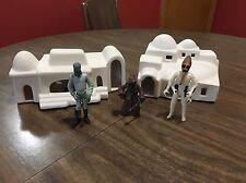 Custom Ceramic Action Figure Diorama Southwestern Style Handmade Cityscape