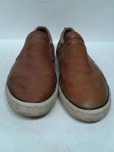 Coach-New-York-Niles-men-039-s-slip-on-boat-shoes-size-12D-Brown-Dock-Shoes