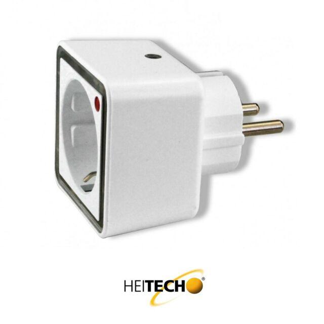 Heitech LED-Nachtlicht mit Steckdose Intertek//GS-Zeichen Licht Lampe Adapter