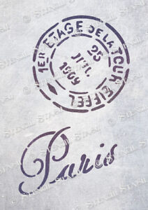 Postmark Paris STENCIL 4 sizes PM Vintage French Furniture SUPERIOR 250 MYLAR - Chippenham, Wiltshire, United Kingdom - Postmark Paris STENCIL 4 sizes PM Vintage French Furniture SUPERIOR 250 MYLAR - Chippenham, Wiltshire, United Kingdom